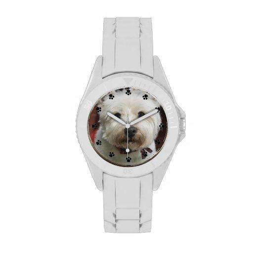 Montre faite sur commande de photo d'animal famili montres cadran