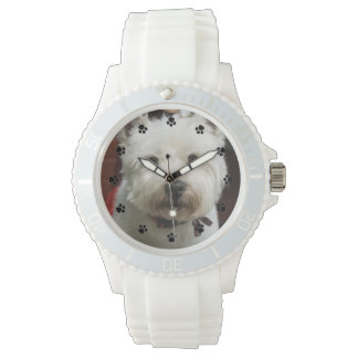 Montre faite sur commande de photo d'animal montres cadran