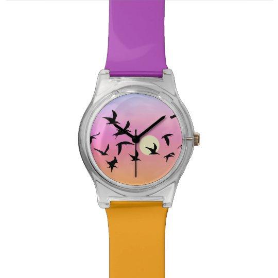 Montre Montre-bracelet de coucher du soleil de plage