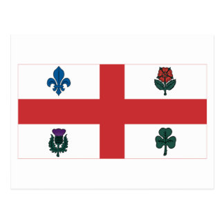 Montreal-Flagge Postkarte