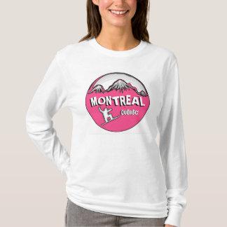 Montreal Quebec Kanada rosa Snowboard Hoodie
