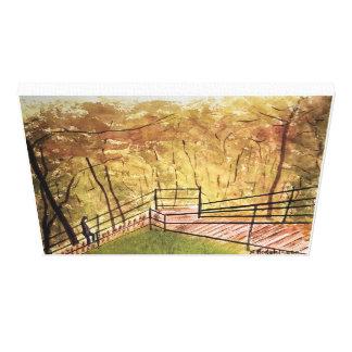 MONTREAL.   - Watercolor, eingewickelter Leinwanddruck