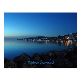 Montreux bis zum Nacht Postkarte