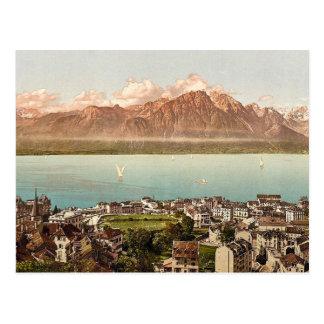 Montreux, Wirsing-Berge, Geneva See, Switzerlan Postkarte