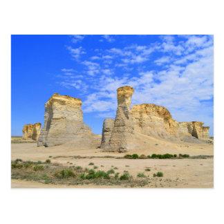 Monument-Felsen in Kansas Postkarte