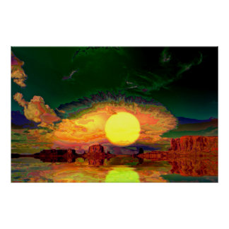 Monument-Valley-Sunrise=Abstract3 Poster