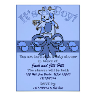 MOO-Babyparty-Einladung 14 X 19,5 Cm Einladungskarte