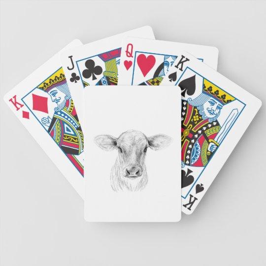 MOO eine junge Jersey-Kuh Bicycle Spielkarten