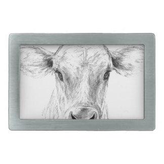 MOO eine junge Jersey-Kuh Rechteckige Gürtelschnalle