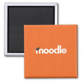 Moodle Magnet: Orange Quadratischer Magnet