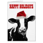 Mooey Weihnachten und glückliches MOO-Jahr Grußkarte