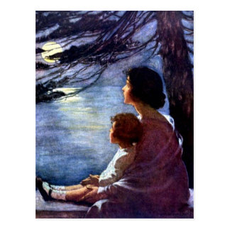 """""""Moonbeams"""" durch Jessie Willcox Smith Postkarte"""