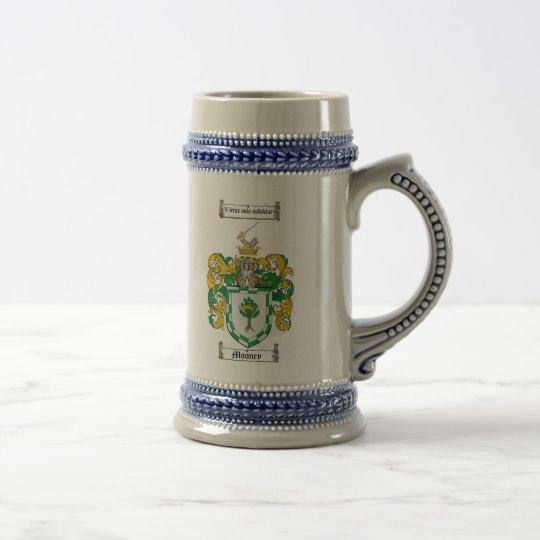 Mooney Wappen Stein Bierglas