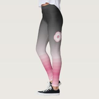 moonflower rosa Luna-Gamaschen Leggings