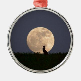 Moongazer Rundes Silberfarbenes Ornament