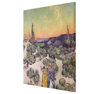 Moonlit Landschaft Vincent van Goghs |, 1889 Leinwanddruck