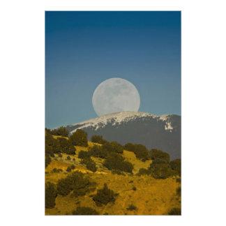 Moonrise über Sangre de Cristo Mountains, Photodrucke