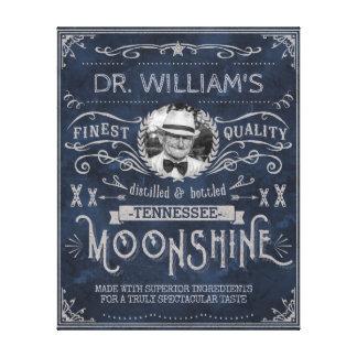 Moonshine Hinterwäldler-Medizin-Vintages Leinwanddruck