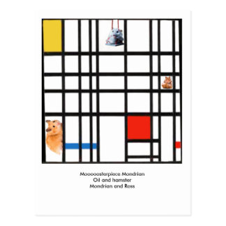 Moooooosterpiece Mondrian Postkarte