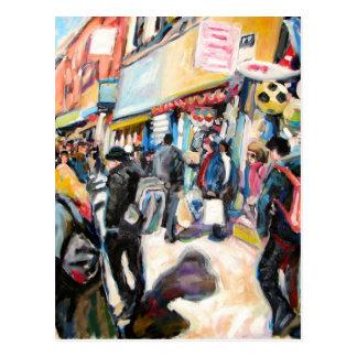 Moore-Straßendublin-Wasserbälle Postkarte