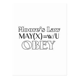 Moores Gesetz Postkarte