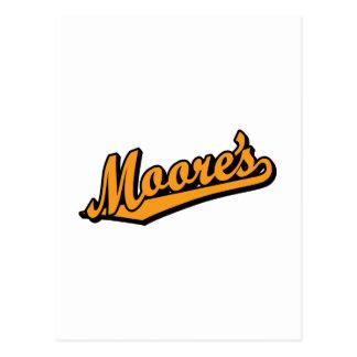 Moores in der Orange Postkarte