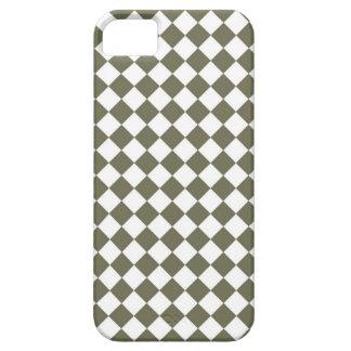 Moos-Grün-Diamant-Karomuster iPhone 5 Etui