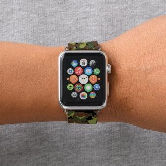 Moos-Grün-Militär-Camouflage Apple Watch Armband