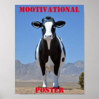 MOOtivational Plakat-lustige Kuh-motivierend Spaß Poster