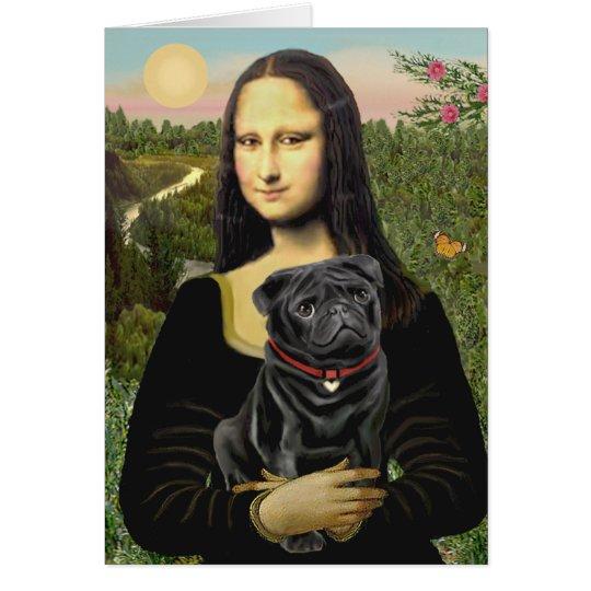 Mops 16 (Schwarzes) - Mona Lisa Karte