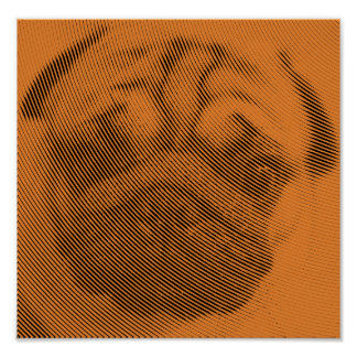 Mops-Gesicht Poster