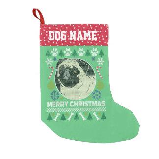Mops-Hundezucht-hässliche Weihnachtsstrickjacke Kleiner Weihnachtsstrumpf