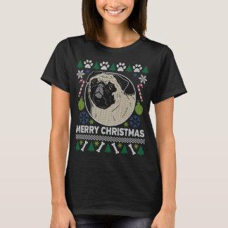 Mops-Hundezucht-hässliche Weihnachtsstrickjacke T-Shirt