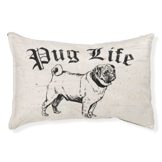 Mops-Leben-lustiger Hundegangster Haustierbett