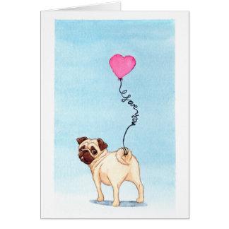 Mops-Liebe Grußkarte