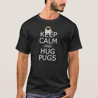 Mops-Liebhaber-Slogan: Behalten Sie ruhige T-Shirt