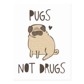 Mops-nicht Drogen Postkarte