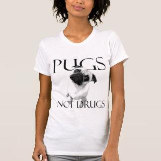 Mops-nicht Drogen T-Shirt