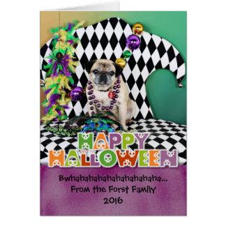 Mops Pugsgiving Karneval-2015 - Luigi - Karte