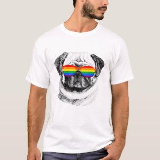 Mops-Stolz-Sonnenbrillen T-Shirt