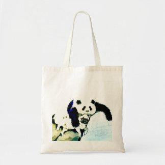 Mops und Panda Tragetasche