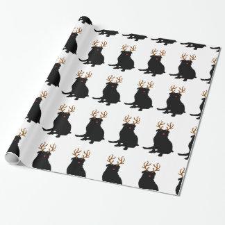 Mops-Weihnachtsverpackungs-Papier Geschenkpapier