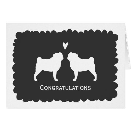 Möpse, die Glückwünsche Wedding sind Karte