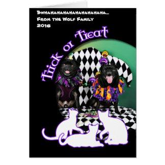 Möpse Pugsgiving Karneval-2015 - Otto u. Juliet - Karte