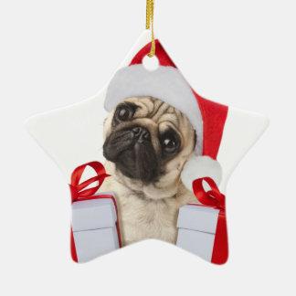Mopsgeschenke - Hund Klaus - lustige Möpse - Keramik Ornament