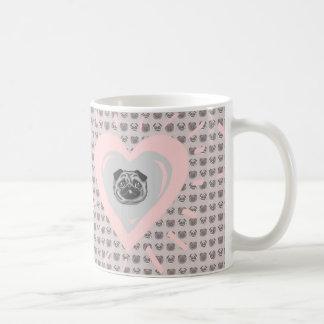 Mopsherz-Tasse Kaffeetasse