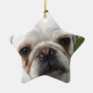 Mopshund Keramik Ornament