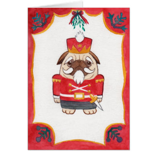 Mopsnussknacker-Weihnachtskarte Grußkarte
