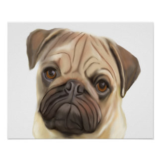 Mopswelpenhundekunst Poster