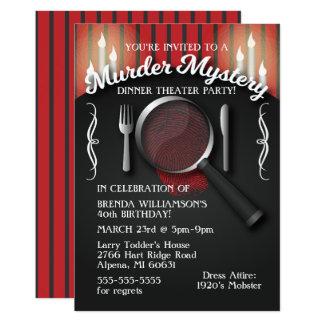 Mord-Geheimnis-Abendessen-Theater-Party Einladung